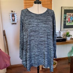 Grace Elements black & grey space dyed tunic top